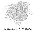rose coloring book for adults... | Shutterstock .eps vector #510932464