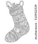 christmas sock with gift vector ... | Shutterstock .eps vector #510932539