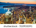 view of downtown seattle...   Shutterstock . vector #510933391