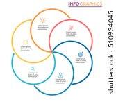 business infographics. outline... | Shutterstock .eps vector #510934045