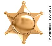 Blank badge star - stock photo