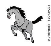 color horse vector illustration ... | Shutterstock .eps vector #510939235