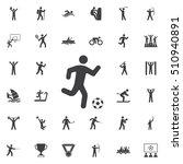 football player icon vector... | Shutterstock .eps vector #510940891