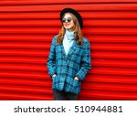 fashion pretty young smiling... | Shutterstock . vector #510944881
