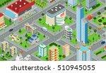 flat isometric megalopolis... | Shutterstock .eps vector #510945055