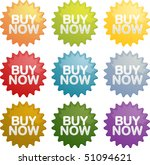 buy now announcement sign... | Shutterstock . vector #51094621