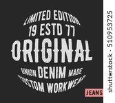 t shirt print design. custom...   Shutterstock .eps vector #510953725