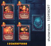 set spell cards of meteorite ... | Shutterstock .eps vector #510958297