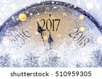 countdown to midnight. retro... | Shutterstock . vector #510959305