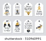 christmas tags set  hand drawn... | Shutterstock .eps vector #510960991