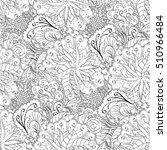 tracery seamless calming... | Shutterstock .eps vector #510966484