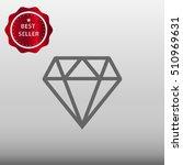 diamond vector icon illustration