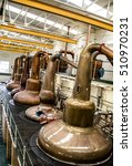 scottish distillery whisky... | Shutterstock . vector #510970231