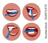 oral hygiene icon. instructions ... | Shutterstock .eps vector #510971575
