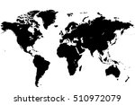 vector map of the world printed ... | Shutterstock .eps vector #510972079