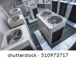 air conditioning equipment atop ... | Shutterstock . vector #510973717
