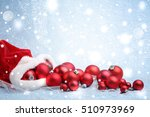 santa claus red bag with... | Shutterstock . vector #510973969