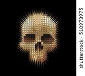 studded skull on a black... | Shutterstock .eps vector #510973975
