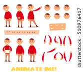pupil set character for your... | Shutterstock .eps vector #510976417