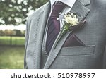 simple wedding boutonniere on a ...   Shutterstock . vector #510978997