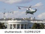 marine one helicopter prepares ... | Shutterstock . vector #510981529