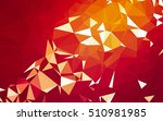 abstract low poly background ... | Shutterstock . vector #510981985