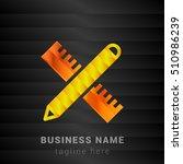 design pencil   scale orange ... | Shutterstock .eps vector #510986239