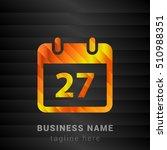 27th calendar orange  yellow...