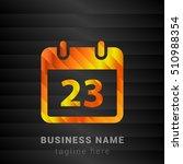 23th calendar orange  yellow...