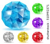 set of gems in the shape of... | Shutterstock . vector #510992371