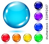 set of colored spheres with... | Shutterstock . vector #510992437