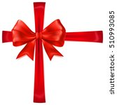 beautiful red bow with... | Shutterstock . vector #510993085