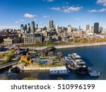 aerial view of montreal skyline ... | Shutterstock . vector #510996199