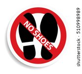 no shoes sign on white... | Shutterstock .eps vector #510998989