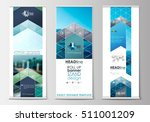 roll up banner stands  flat... | Shutterstock .eps vector #511001209