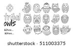 black and white vector... | Shutterstock .eps vector #511003375