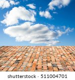 red brick floor against the sky | Shutterstock . vector #511004701