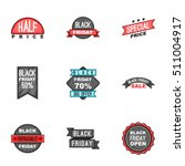 price down icons set. cartoon... | Shutterstock .eps vector #511004917