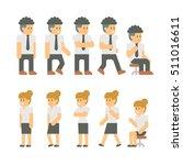 flat design business people set ... | Shutterstock .eps vector #511016611