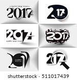set of happy new year 2017  ... | Shutterstock .eps vector #511017439