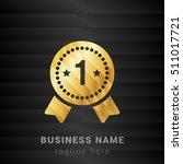 1st rank medal gold and black... | Shutterstock .eps vector #511017721