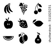 various fruits on a wite... | Shutterstock .eps vector #511025251