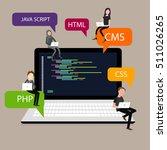 programming in laptop screen... | Shutterstock .eps vector #511026265