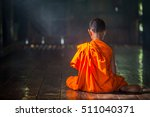 Young Buddhist Novice Monk...