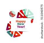 geometric christmas sale or... | Shutterstock .eps vector #511040575