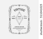 vintage linear thin line... | Shutterstock .eps vector #511041025