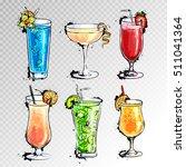 hand drawn illustration of set...   Shutterstock .eps vector #511041364