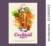 hand drawn artistic cocktail... | Shutterstock .eps vector #511042015