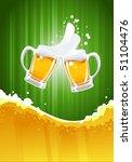 beer splashing | Shutterstock .eps vector #51104476
