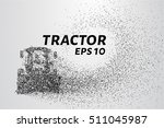 tractor of the particles. the... | Shutterstock .eps vector #511045987